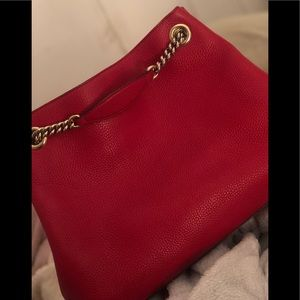 Gucci Bags - GUCCI SOHO CHAIN RED LEATHER